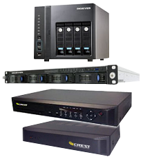 Photo of a variety of DVRs and NVRs